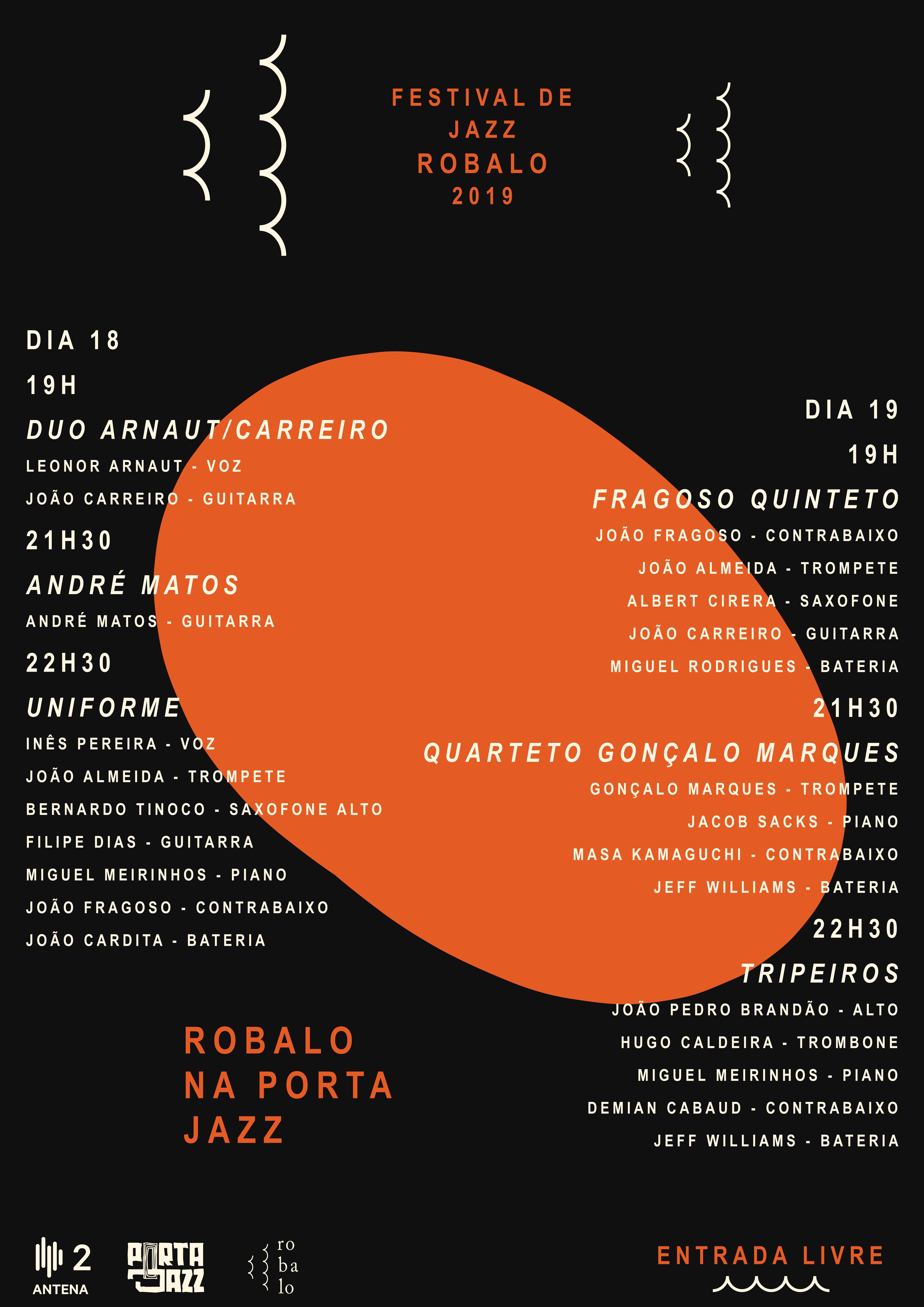 Cartaz Festival Jazz Robalo Porta-Jazz