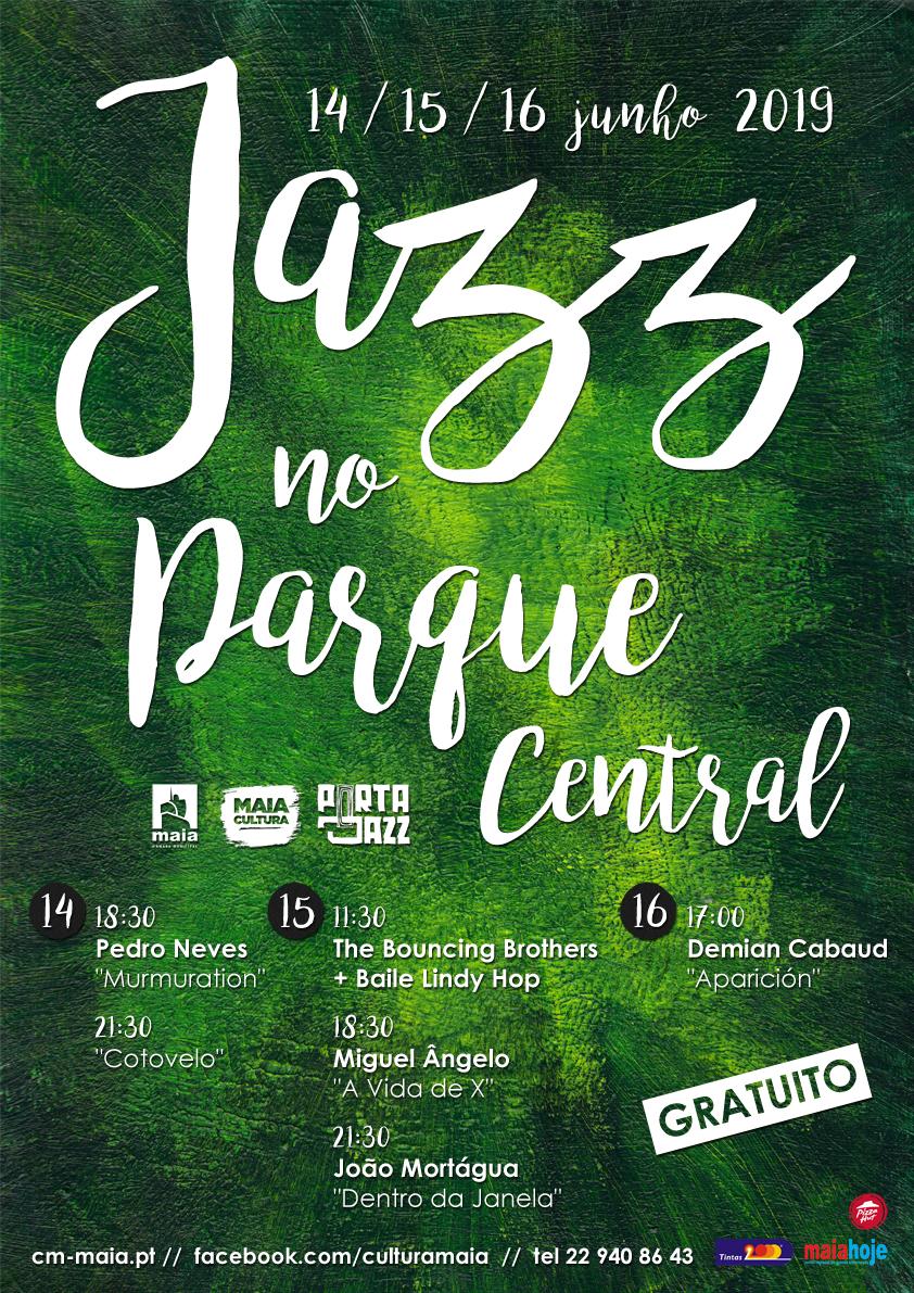 cartaz Jazz no Parque Central Maia