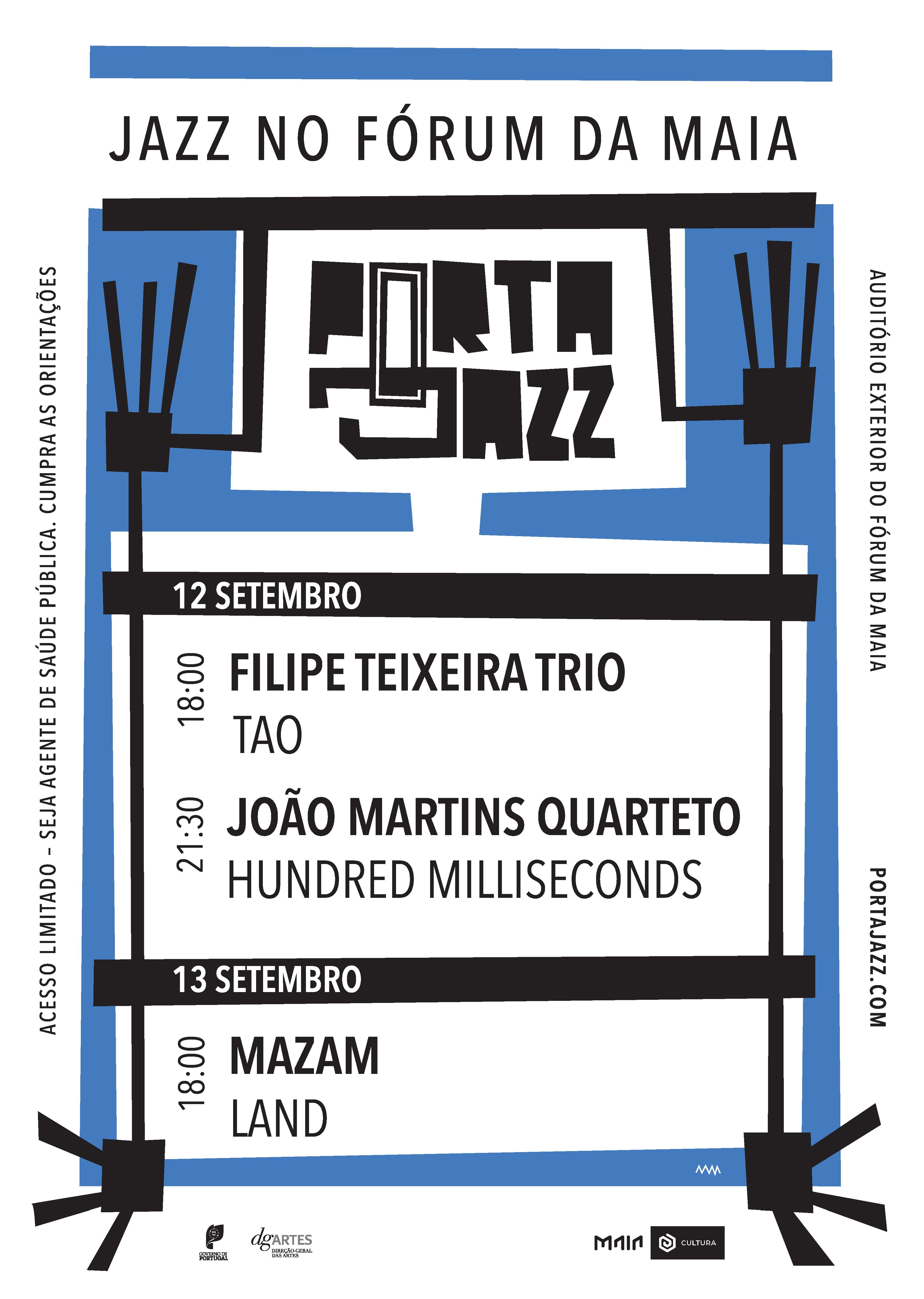 cartaz Jazz no Fórum da Maia 2020
